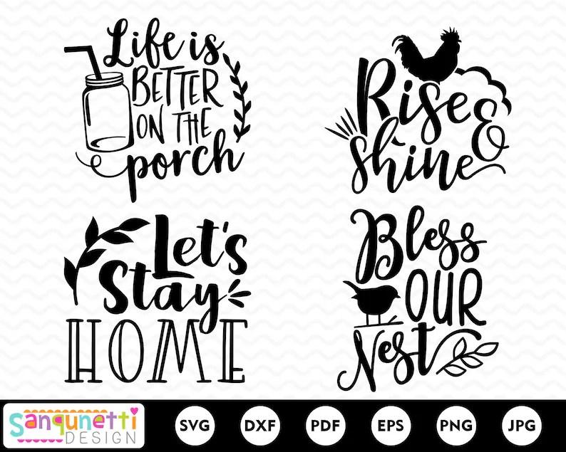 Home farmhouse SVG bundle rustic cut files for silhouette
