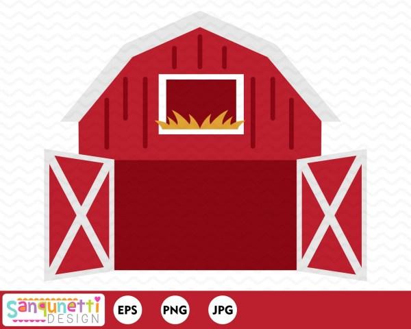 open barn clipart farm digital