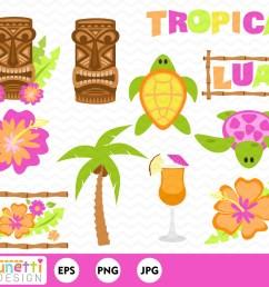 50 tropical luau clipart  [ 1500 x 1200 Pixel ]
