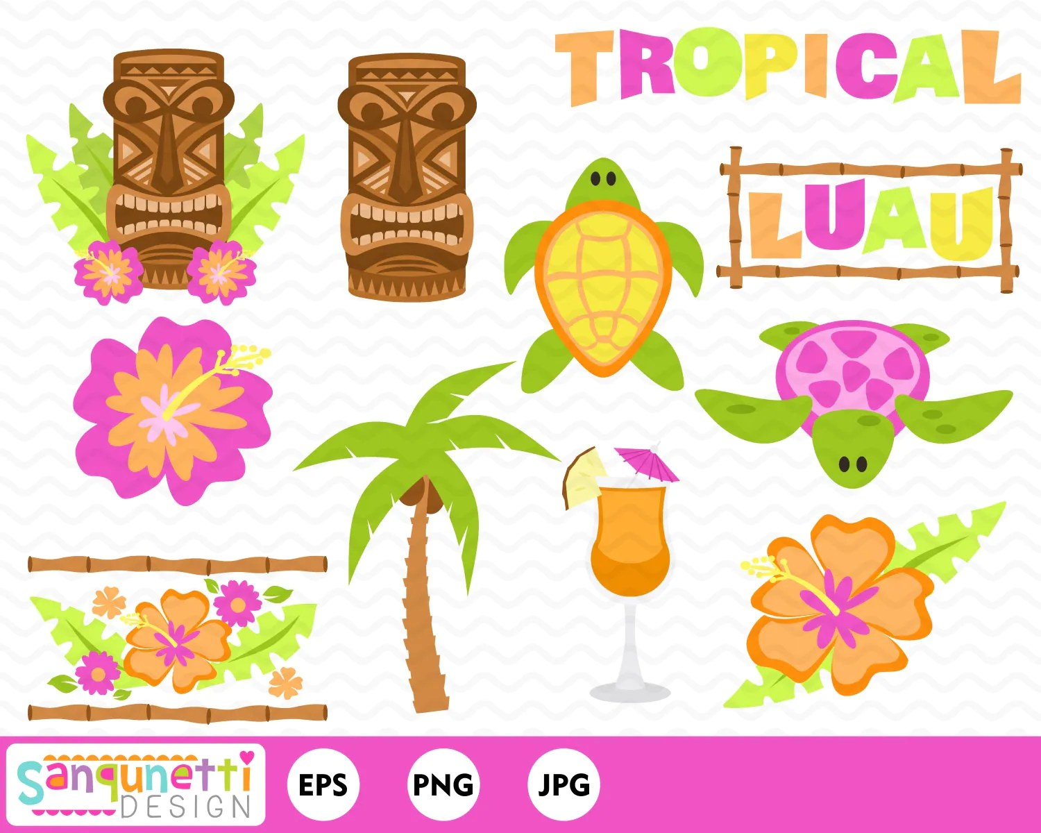 hight resolution of 50 tropical luau clipart
