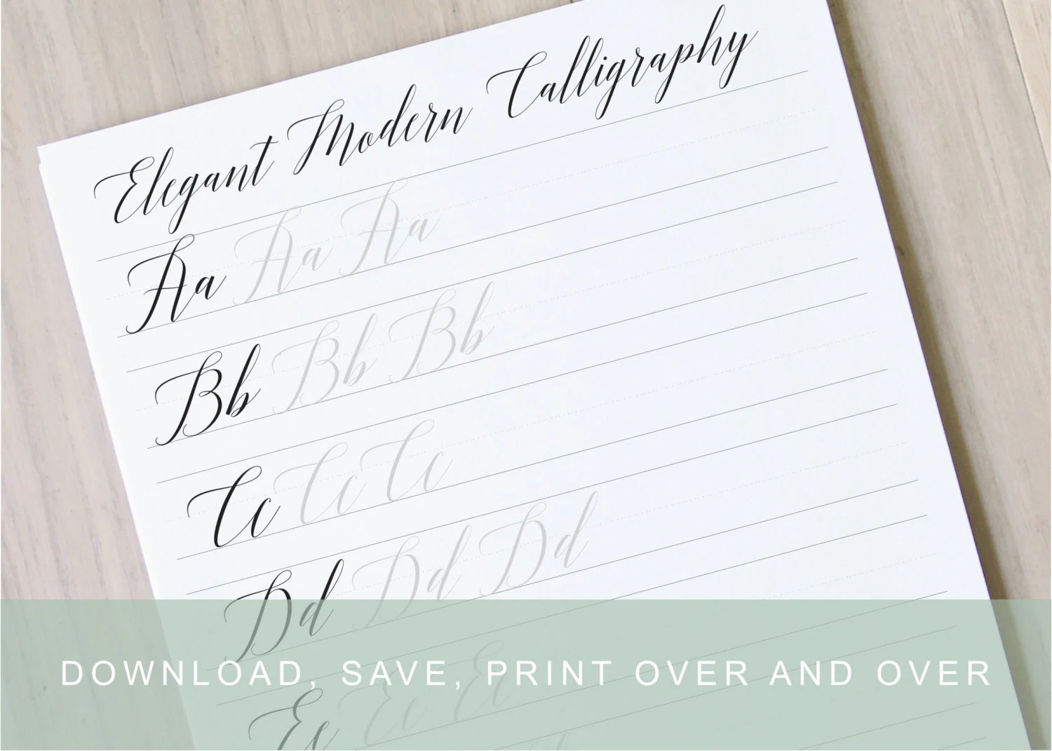 Elgant Modern Calligraphy Lettering Worksheets Calligraphy