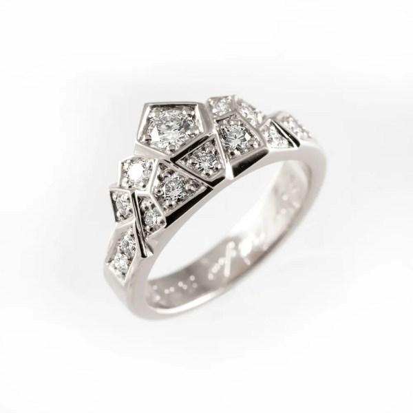 Unique engagement ring modern engagement ring alternative ...