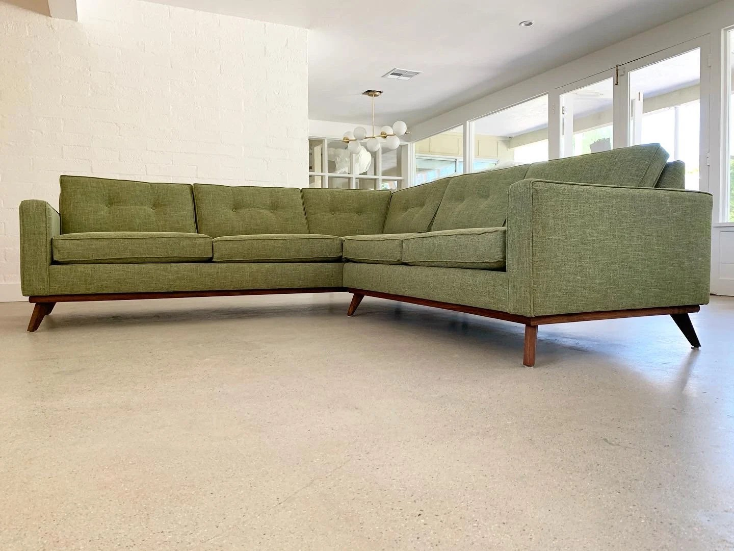 mid century sectional etsy