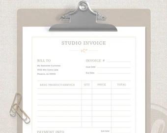 Photography invoice | Etsy