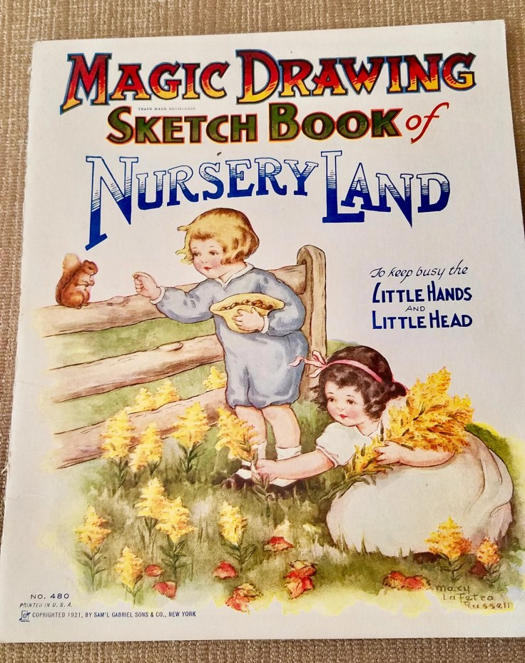 First Edition 1921 Magic Drawing Sketch Book of NURSERY LAND/No. 480