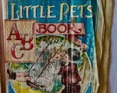 Little Pets ABC Book, McLoughlin Bros, Linen, chromolithographs, 1904, victorian era, alphabet/Vintage Children's Book, number 267