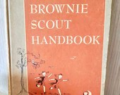 Vintage Brownie Scout Handbook Hardcover Book/COPYRIGHT 1951