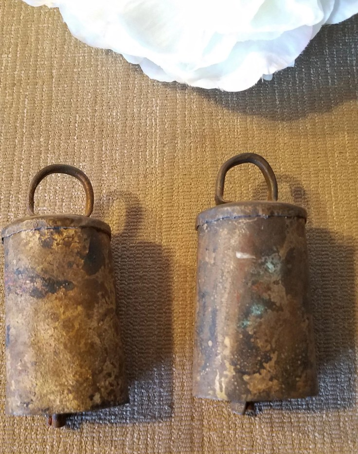 Antique Handmade Goat Sheep Bells / Hand Forged