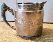 Barker Mfg Co. Creamer / Quadruple Silver Plate - Outdoor Pattern