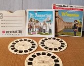 Vintage View Master Film St. Augustine Florida,  3 reel sets Viewmaster Slide/ A981