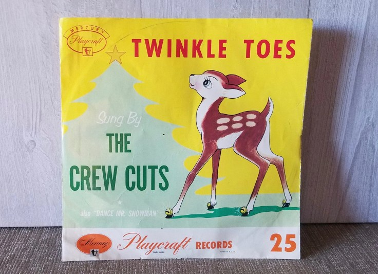 Vintage Mercury/Playcraft, TWINKLE TOES/Dance Mr. Snowman record/ 10 inch round/ 1950's/ Christmas Music