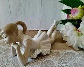Nao Lladro Ballerina / Made in Spain/ Elegant Porcelain Figurine Sculpture of a Dancer/ Gift for Dancer