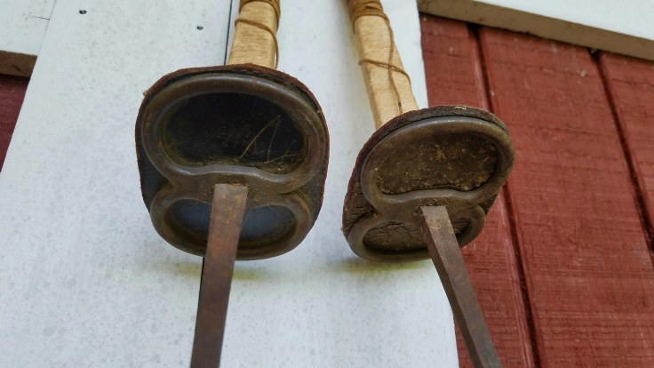 RESERVED for sweet Paul ONLY/ 2 Antique 18th Century Solingen Fencing Sword/Dueling Training Swords/ Man Cave