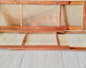 TWO Antique Styled window frames, Rustic Window, Rustic designed Window Dovetail Frame, Farmhouse decor, Country Chic/ Vintage Salvage