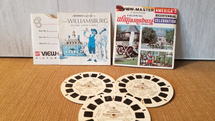 Vintage View Master Film Colonial Williamsburg Virginia, 3 reel sets Viewmaster Slide/ A813