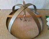 Vintage Wall Mount Brass Pot Holder/ Pan Holder/ Kitchen Storage