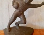 1920's Antique Cast Iron Hubley football player/ Door Stopper / Book End