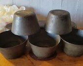 Vintage set of 8 Tin Baking Cups / Baking molds