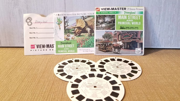 Vintage View Master Film Disneyland Main Street and Primeval World,  3 reel sets Viewmaster Slide/ A175