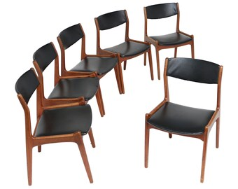 erik buck chairs metal outdoor etsy set of 6 danish modern inspired by