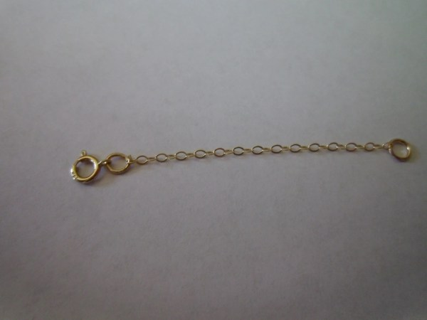 14kt Yellow Gold Flat Chain Extender 2 - Order