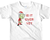 Zombie Santa Is It Over Yet Funny Christmas Short sleeve kids t-shirt
