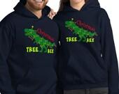 Christmas Tree Rex Funny Decorated Dinosaur Christmas Unisex Hoodie