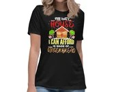 The Only House I Can Afford Funny Gingerbread House Women's Relaxed T-Shirt