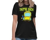 Monster Bus For Teachers and Staff Funny Back To School Womens T-Shirt