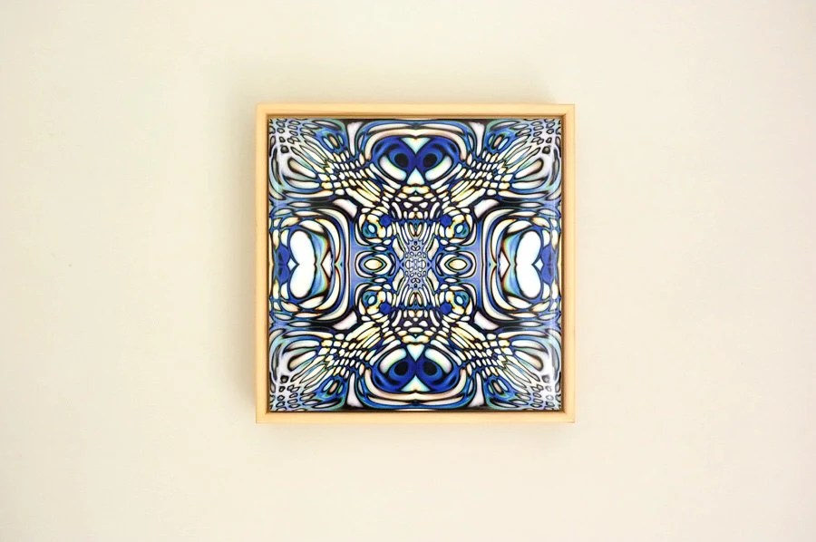 abstract wall art curved design tile modern wall decor etsy