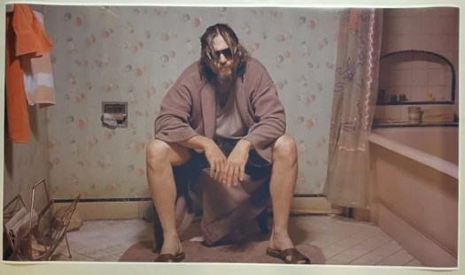 The Big Lebowski GIANT WIDE 24x 42 Toilet Scene | Etsy