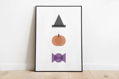 Witch // Minimal Halloween Print // Home Decor image 0