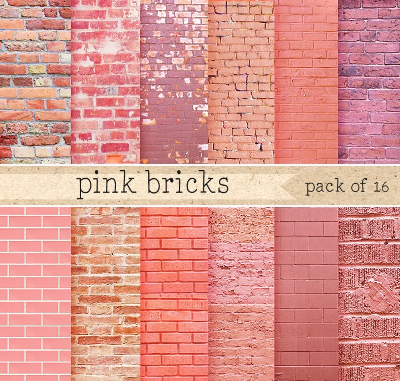 pink brick wall digital