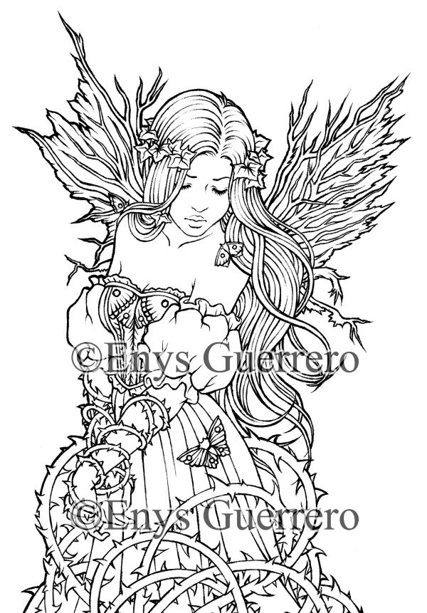 fairy princess coloring pages # 31