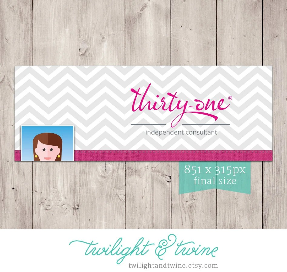 Thirty One Chevron Facebook Cover Photo Image Consultant  Etsy