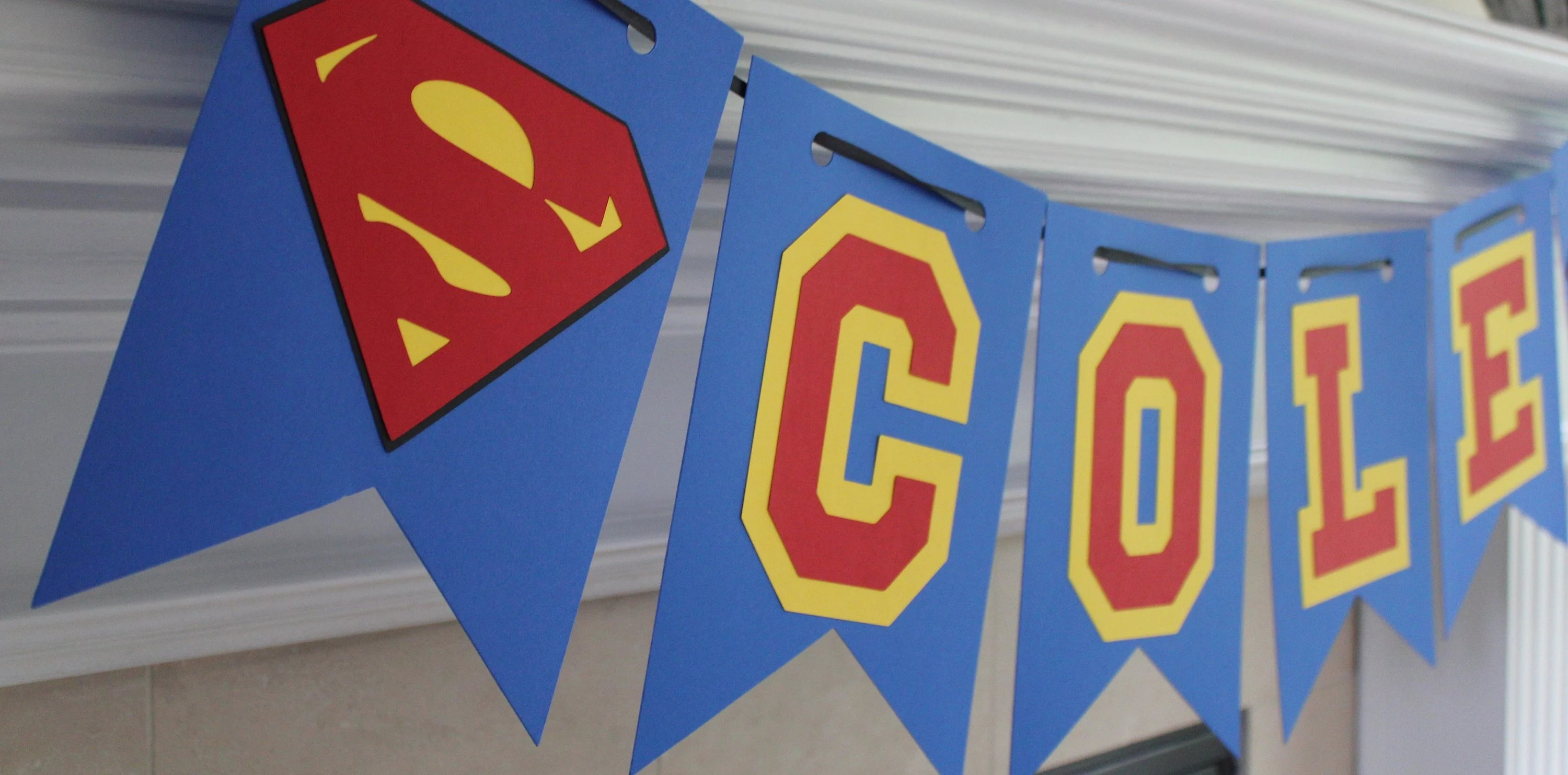 personalized superman banner superman