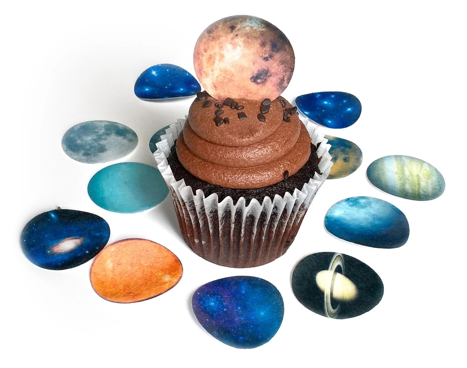 12 Solar System Planets Universe Galaxy Stars Edible Image