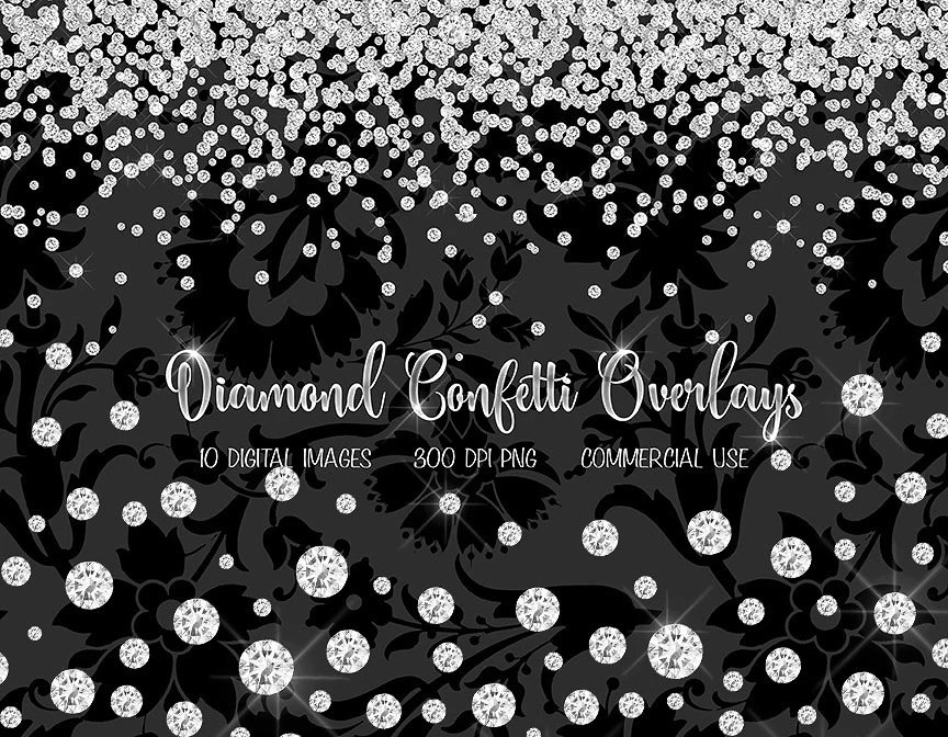 Falling Glitter Wallpaper Diamond Confetti Overlays Diamond Clipart Diamond Clip Art