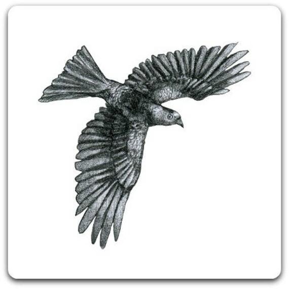 Carte de vœux Oiseau création originale fait main 15cm x