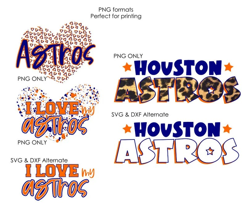 Download Houston Astros SVG DXF PNG I Love My Astros Cut file | Etsy