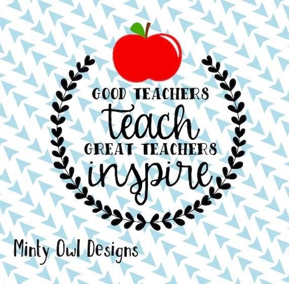 cricut svg good teachers