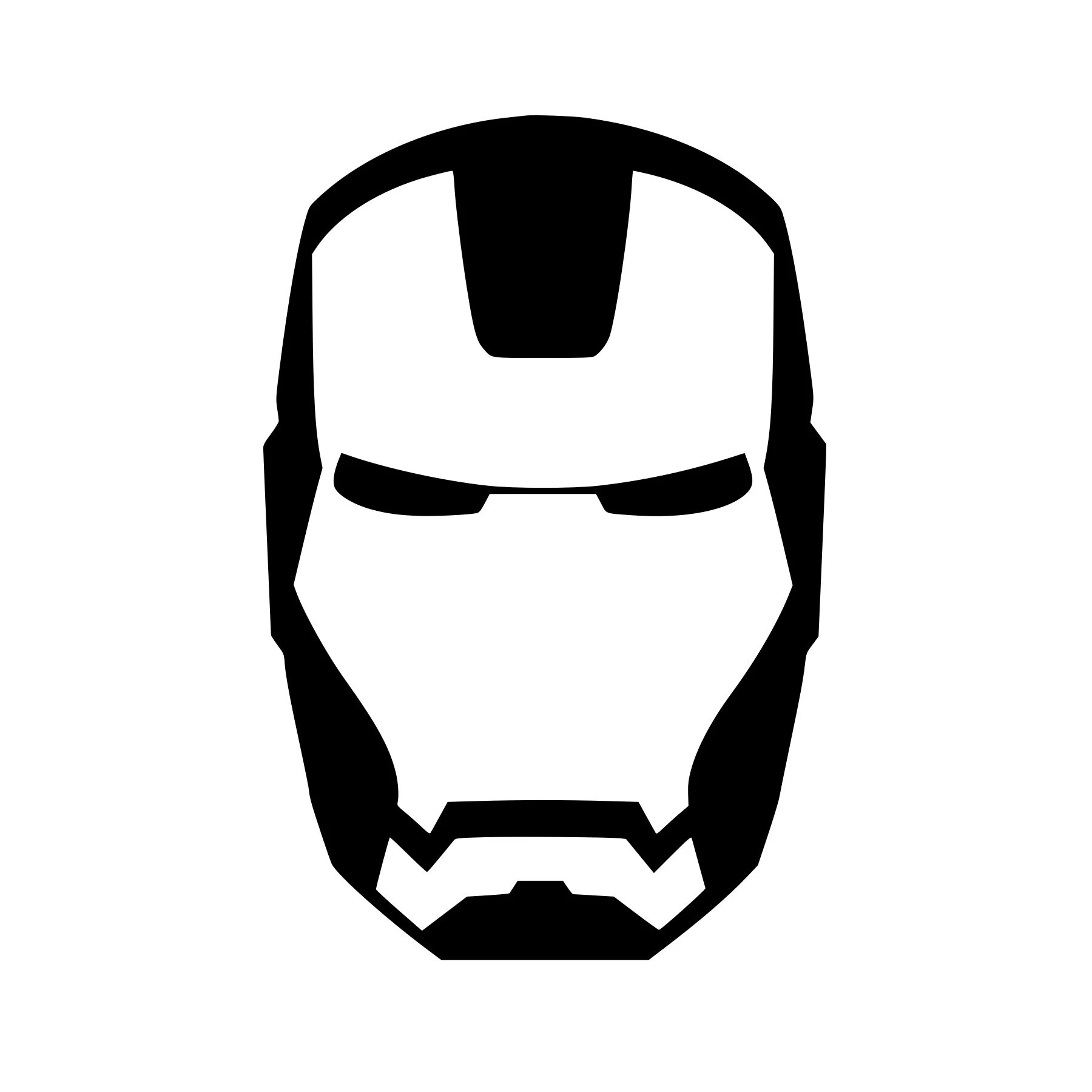 Ironman Face Mask Logo Vinyl Decal Any Color Any Size