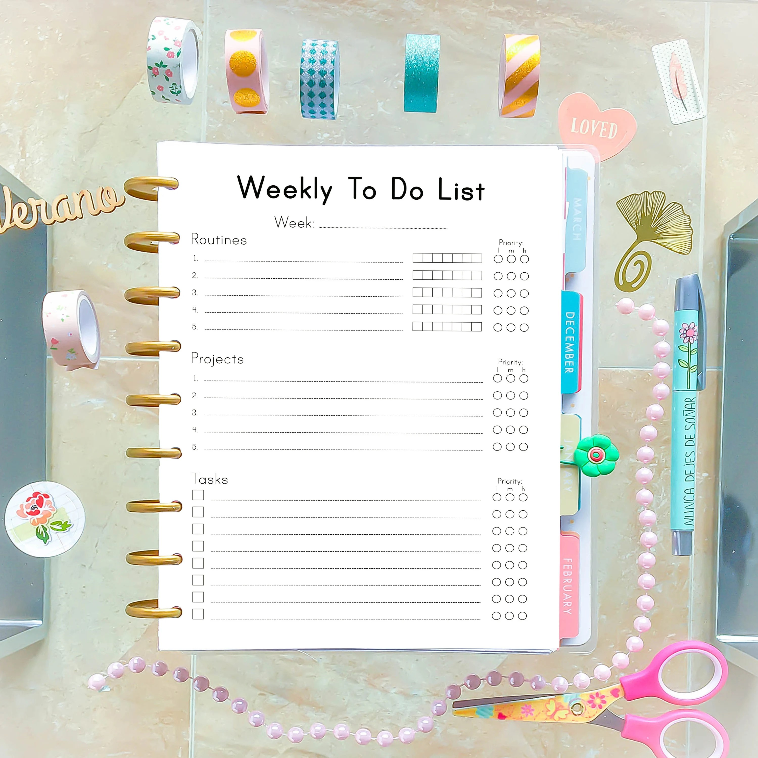 Weekly Planner Pages Weekly To Do List Printable To Do
