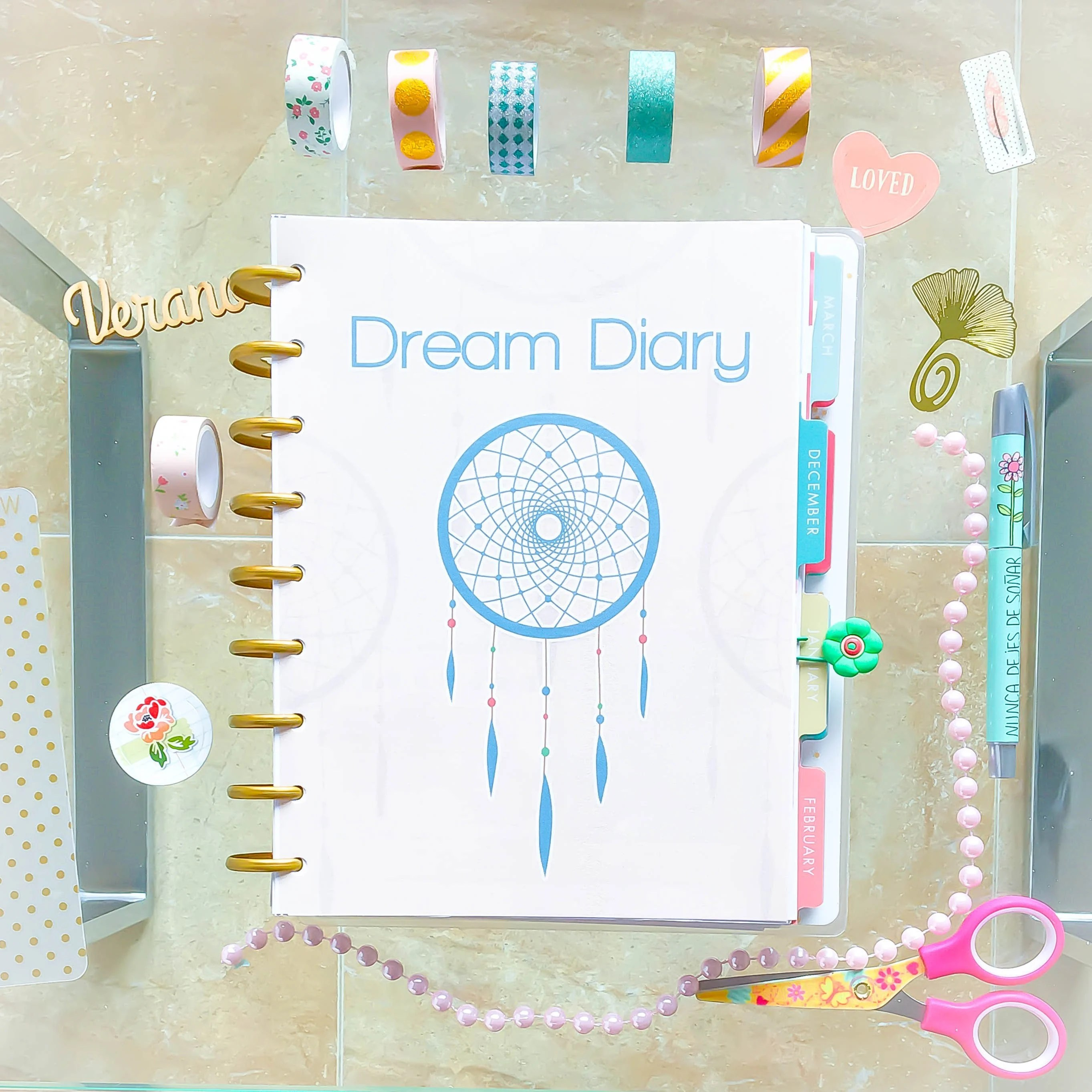 Happy Planner Inserts Dream Diary Dream Journal Mambi