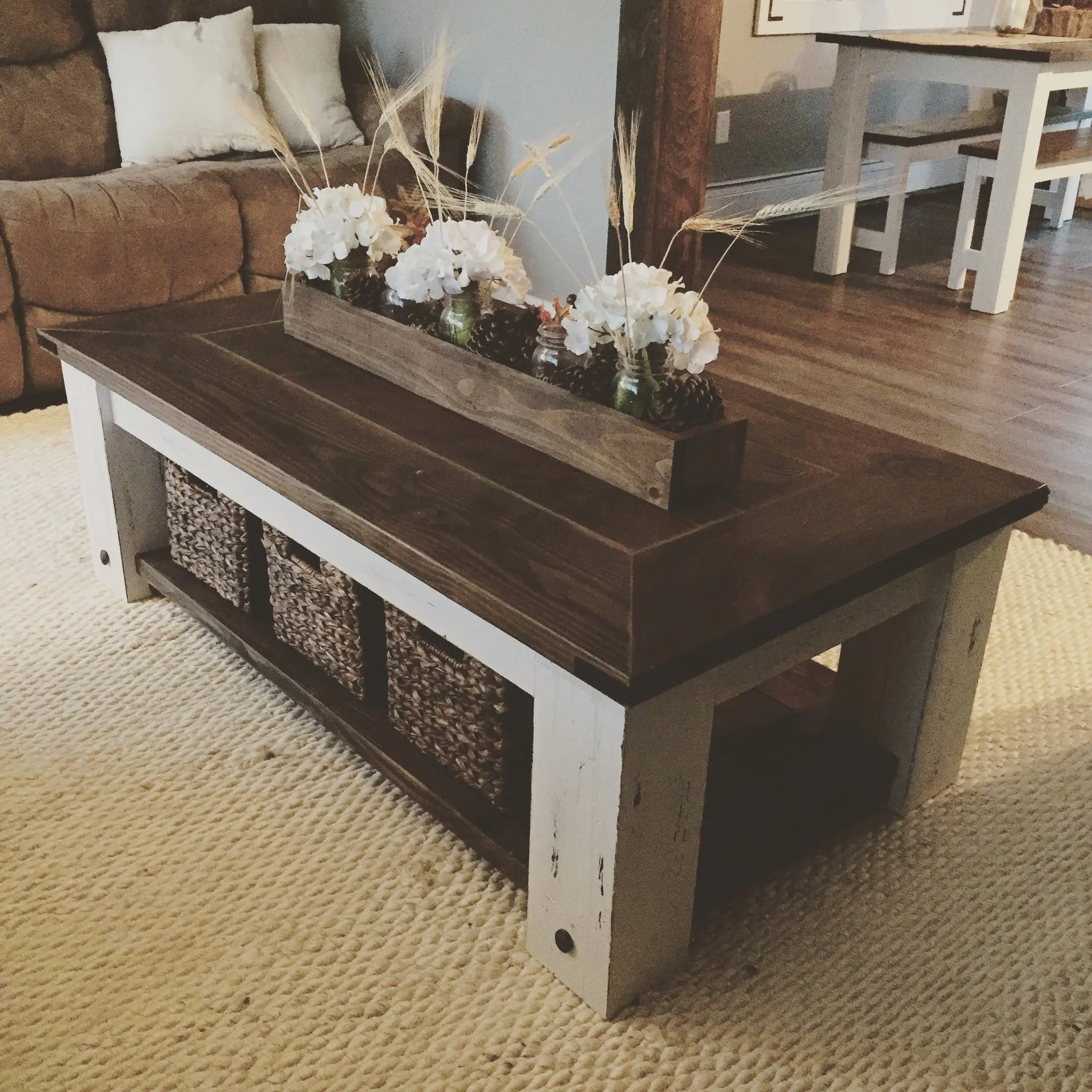 diy living room furniture plans bungalow ideas uk farmhouse coffee table woodworking etsy image 0