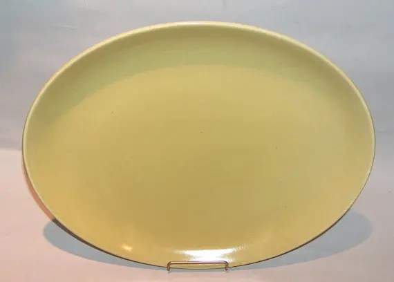 Vintage Russel Wright Oval Serving Platter Tray Chartreuse
