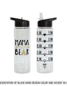 Image also mama bear teepee and arrow hourly water bottle etsy rh