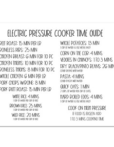Image also instant electric pressure cooker time chart magnet quick etsy rh