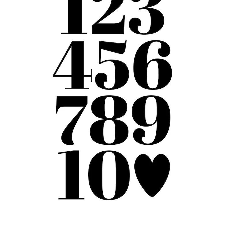 Alphabet & Numbers Paired Matching Nursery Playroom Decor