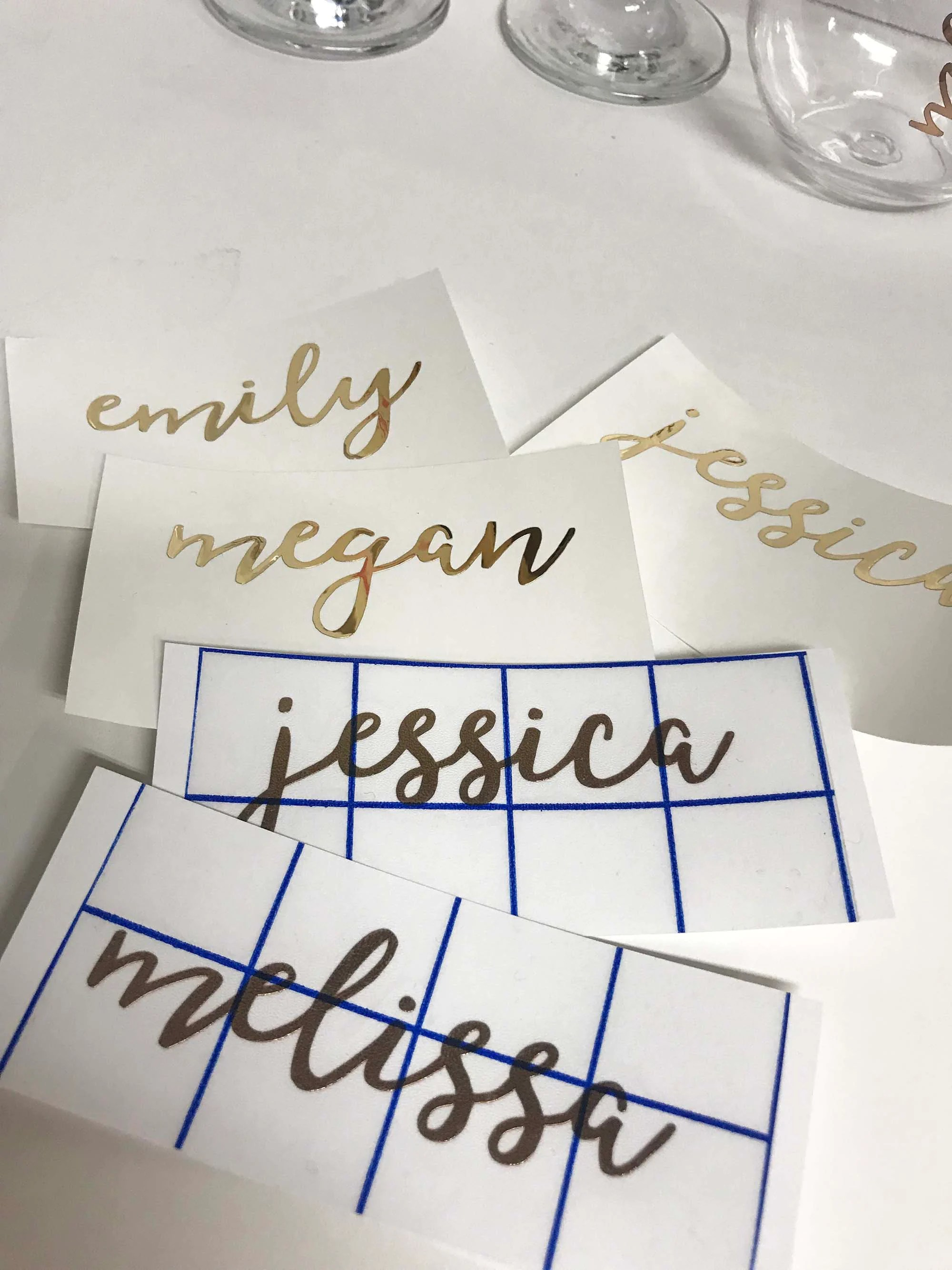 Personalised Wine Glass Decals DIY Bridesmaid Gift image 2